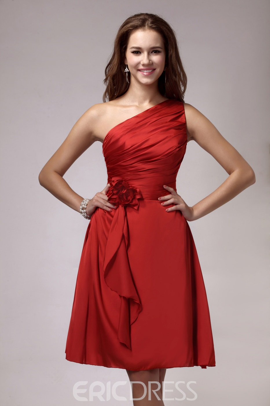 Attractive Lace-back A-Line V-Neck Sleeveless Sandra's Bridesmaid Dress