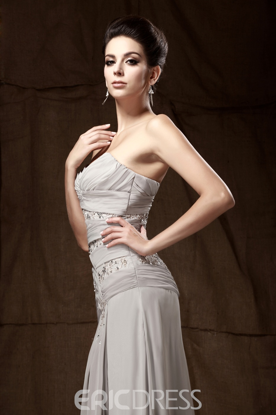Lace A-Line Sweetheart Neckline Sweep Train Mother of the Bride Dress