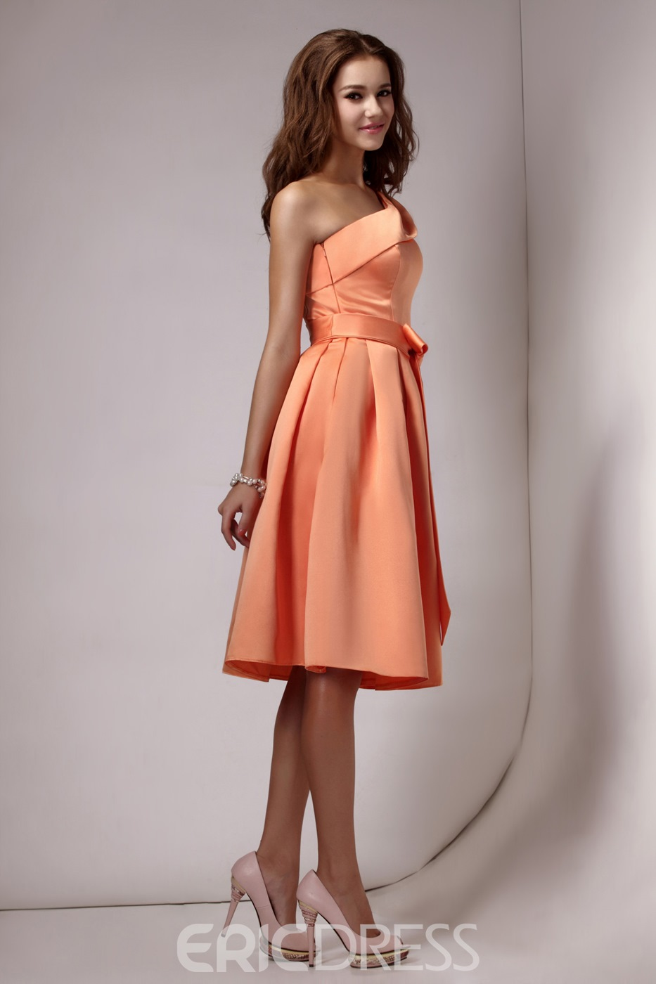 Elegant Pleats Short/Mini Length Strapless Sandra's Bridesmaids Dress