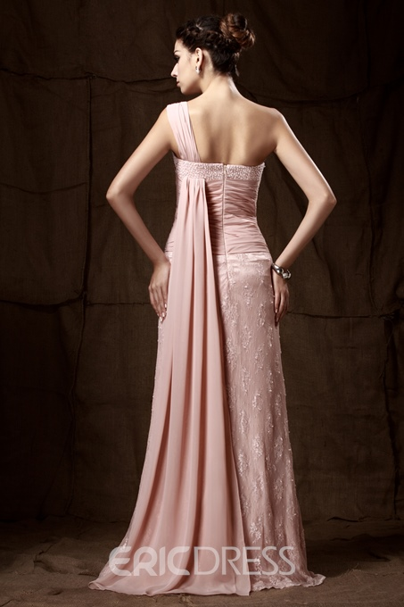 Sexy Lace Sheath/Column One-Shoulder Floor-Length Taline's Mother of the Bride Dress