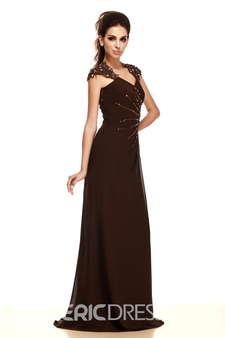 Gorgeous Lace Beading/Sequins A-Line Straps Neckline Floor-Length Taline's Mother of the Bride Dress