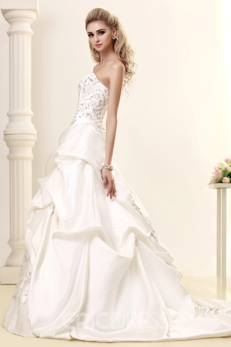 Ericdress Sweetheart Embroidery Sequins Ball Gown Wedding Dress