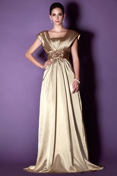 Elegant Flowers Tiered A-Line Floor-length Taline's Mother of the Bride Dress