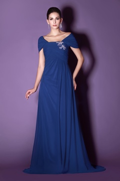 Elegant A-line Off-the-Shoulder Special Floor-length Taline's Mother of the Bride Dress
