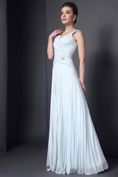 A-Line Pleats Sweetheart Dropped Waist Sleeveless Floor-Length Mother of the Bride Dress