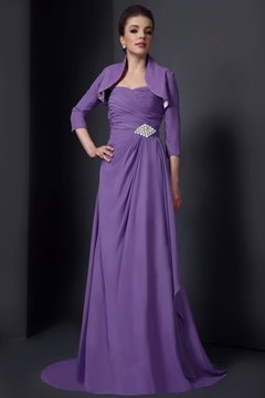 Vogueable Sheath/Column Sweetheart Neckline Floor-Length Mother of the Bride Dress With Jacket/Shawl