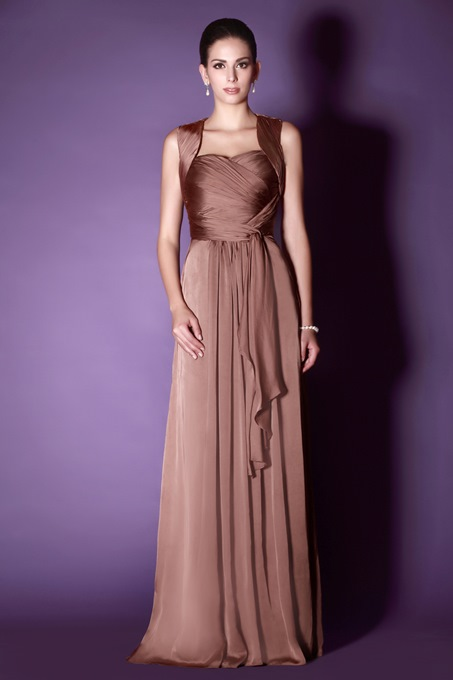 Ericdress Straps Pleats Hollow Mother of the Bride Dress