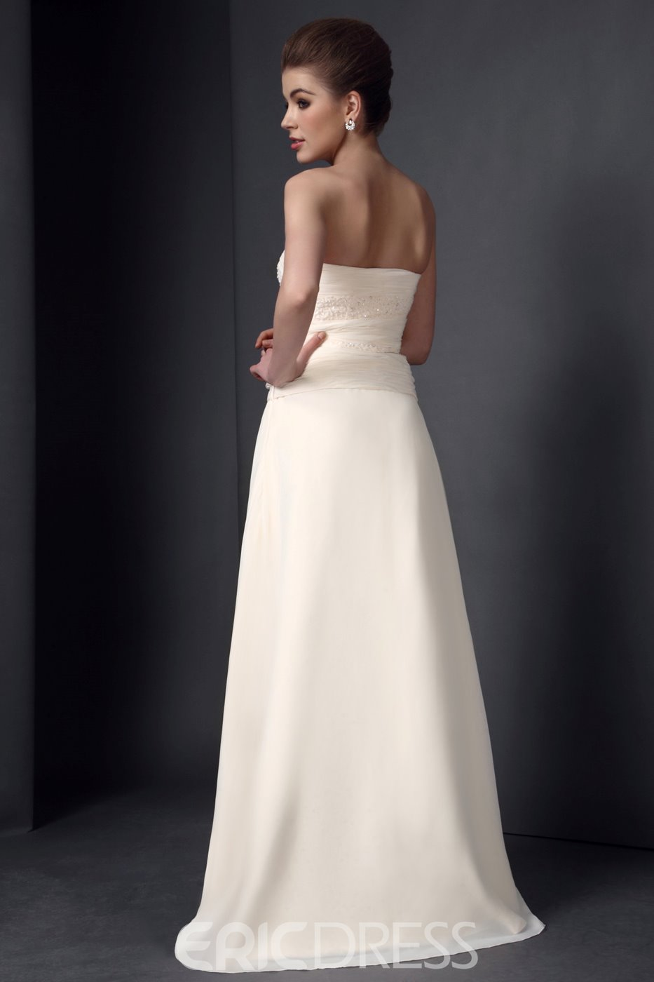 Graceful Beaded A-Line Strapless Floor-Length Mother of the Bride Dress With Jacket/Shawl