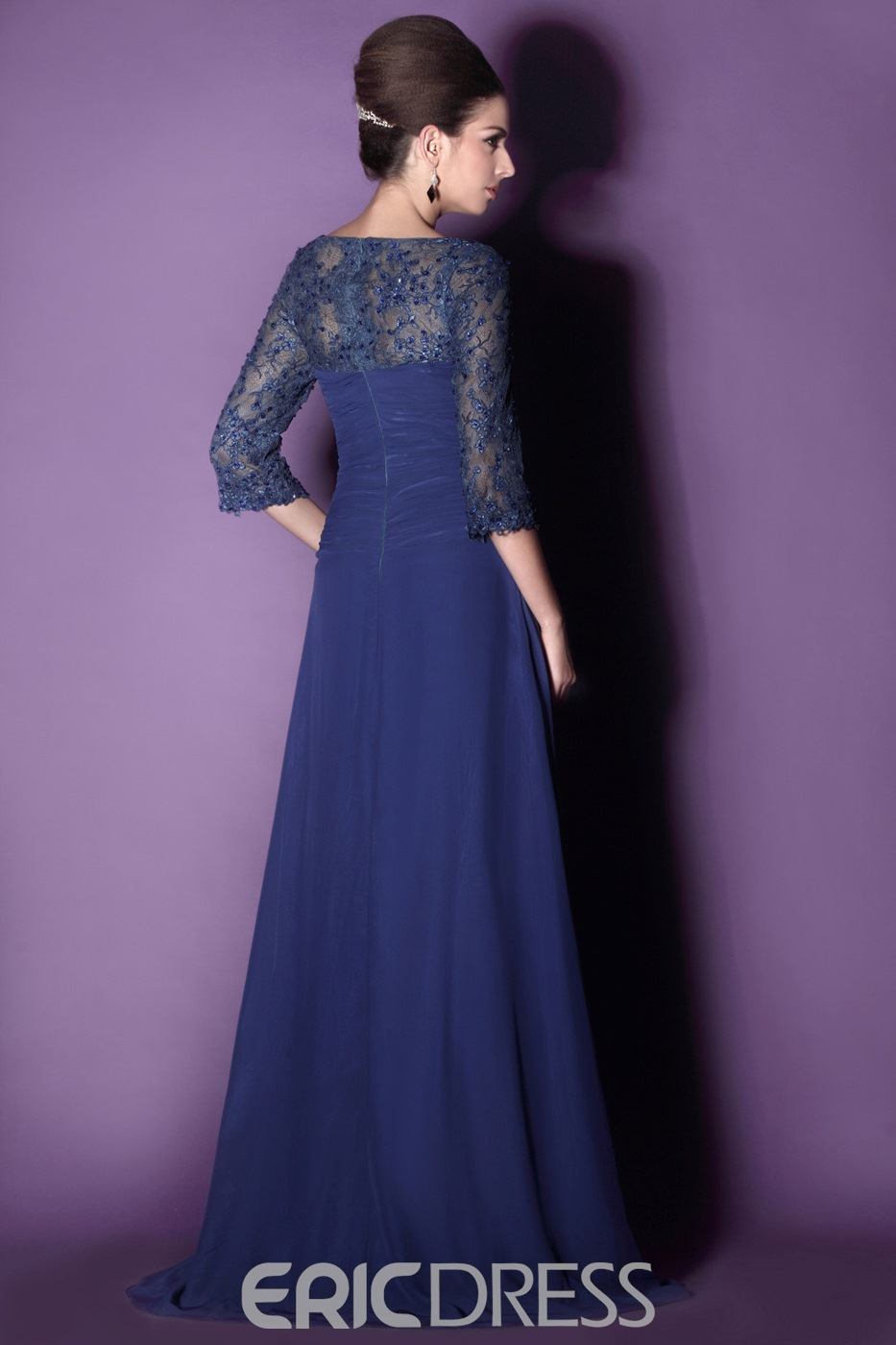 Gorgeous Lace A-Line Sweetheart Neckline 3/4-Sleeves Mother of the Bride Dress With Jacket/Shawl