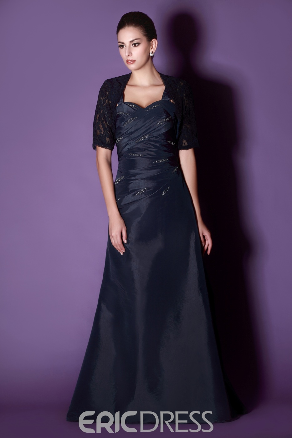 Fantastic Beaded A-line Sweetheart Neckline Floor-Length Taline's Mother of the Bride Dress With Jacket/Shawl