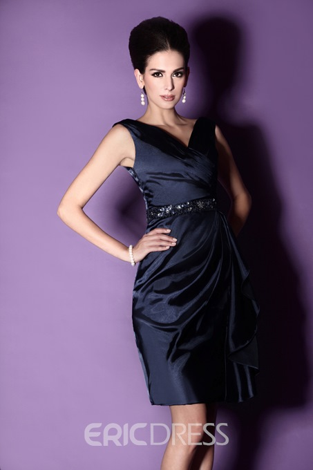 Fancy Sheath Knee-length Mother of The Bride Dress