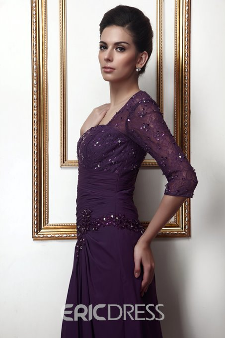 Ericdress Half Sleeve Sequins Lace Mother of the Bride Dress