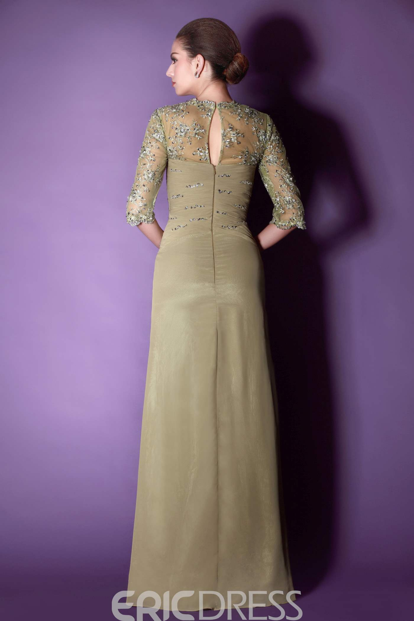Ericdress Lace/Appliques Sheath Floor-Length Square Neck Mother of the Bride Dress