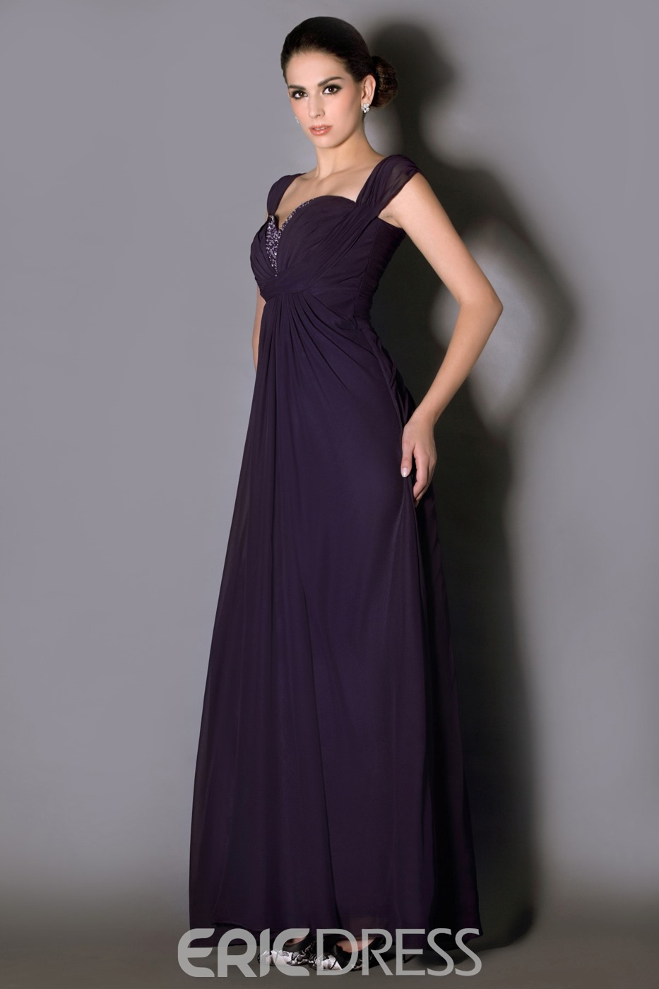 Fabulous Pleats Beading A-Line Sweetheart Neckline Floor-Length Taline's Mother of the Bride Dress