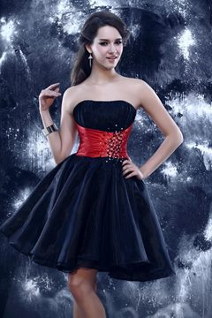 Glamorous Mini A-line Strapless Dark Navy Blue Cocktail/Prom Dress