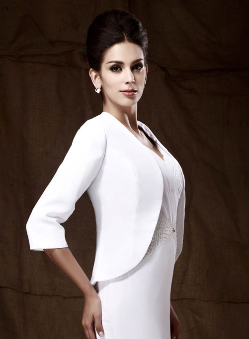 Ericdress Attractive 3/4-length Sleeve White Wedding/ Party Jackets