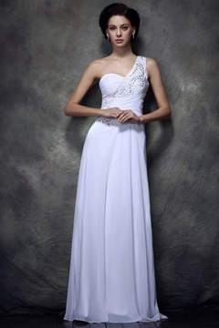 Column One-shoulder Sequins Floor-length Polina's Evening Dress