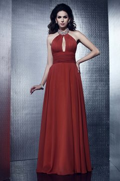 Charming High-Neck Floor-Length A-Line Taline's Evening Mother Dress