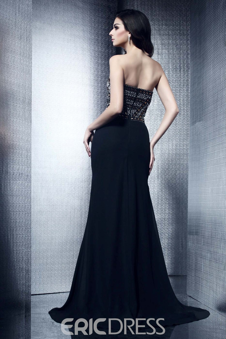 Fantastic Trumpet/Mermaid Strapless Floor-Length Taline's Split-Front Evening/Mother Dress