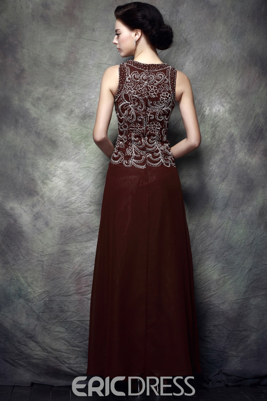 Ericdress Beading Embroidery Sheath Mother of the Bride Dress