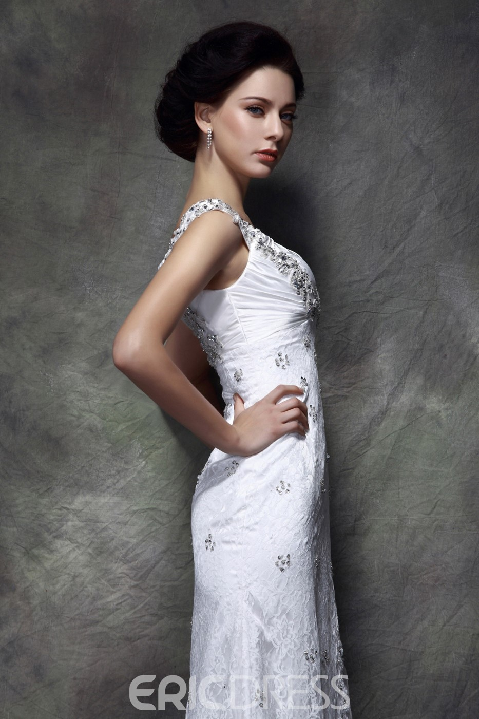 Gorgeous Beading/Sequins Split-Front Floor-Length Square Polina's Mother of the Bride Dress