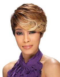 Ericdress Afro Hairstyle Short Wavy Mixed Color Synthetic Hair Capless Wig