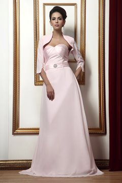 Faddish Pleats A-line Sweetheart Long Taline's Mother of the Bride Dress With Jacket/Shawl