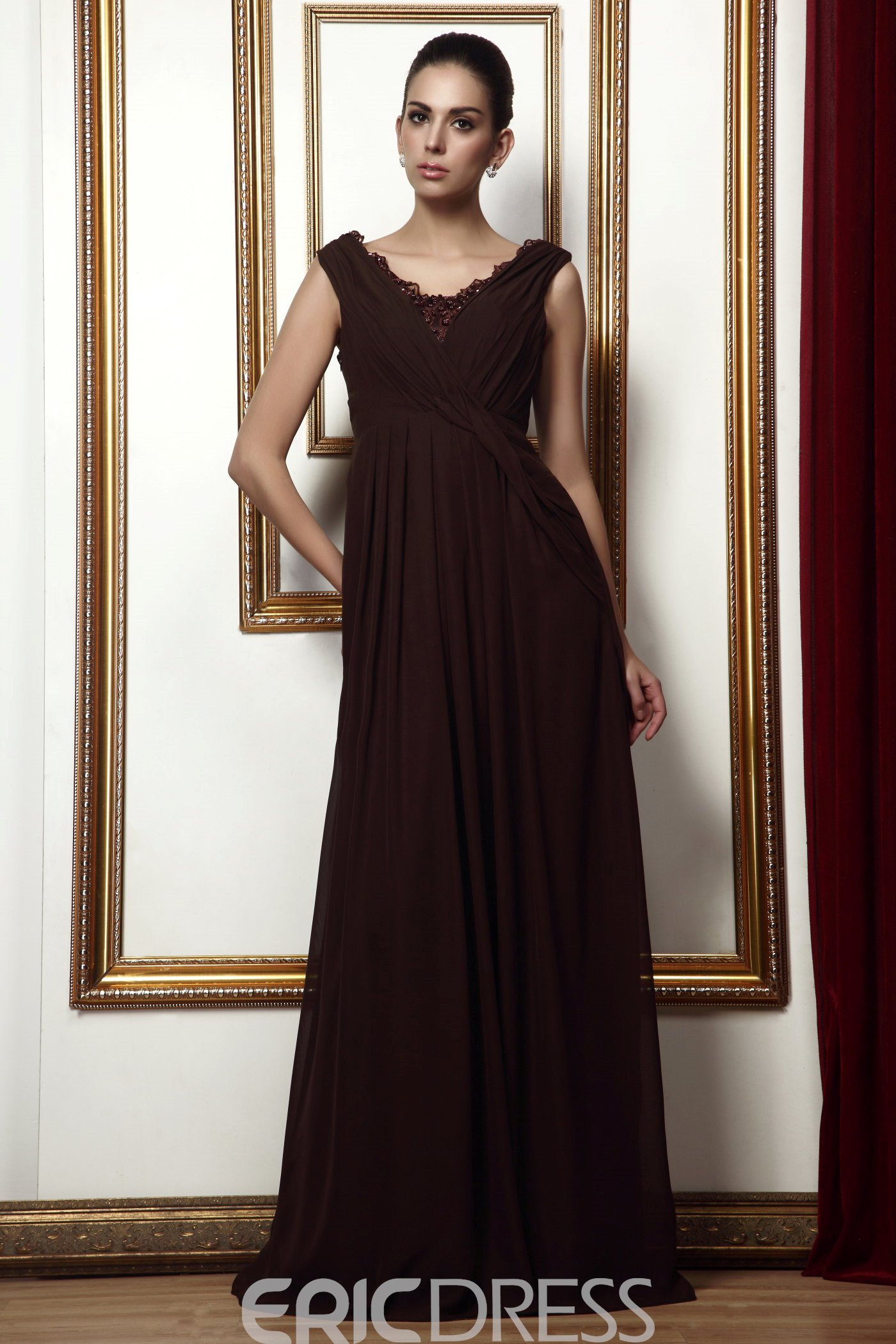 Charming Lace Trimmed A-Line Floor-length Taline's Bridesmaid Dress