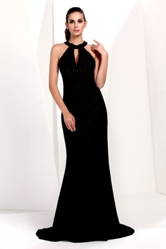 Sheath/Column High Neck Floor-Length Taline's Evening Dress