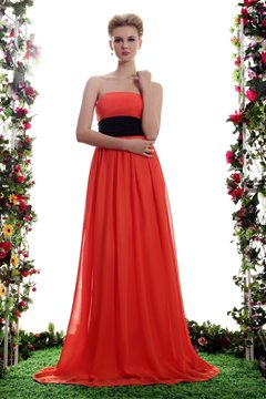 Attractive Sashes/Ribbons Empire Waist Strapless Neckline Floor-length Yana's Bridesmaid Dress