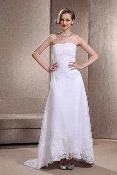 Informal Tea Length Sweetheart Lace Asymmetry Angerlika's Wedding Dress