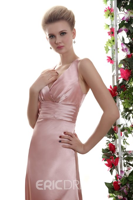 Empire A-Line V-neck Floor Length Yana's Bridesmaid Dress