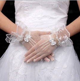 Wonderful Bridal/Wedding Net Gloves with Laciness(more colors)