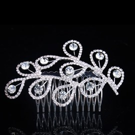 Pretty Phoenix Rhinestone Wedding Bridal comb