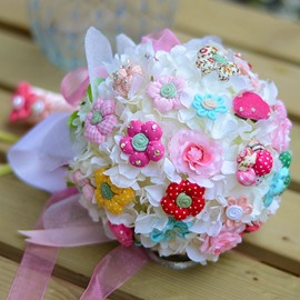 Sphere Shaped Cute Flower Wedding Bridal Bouquet