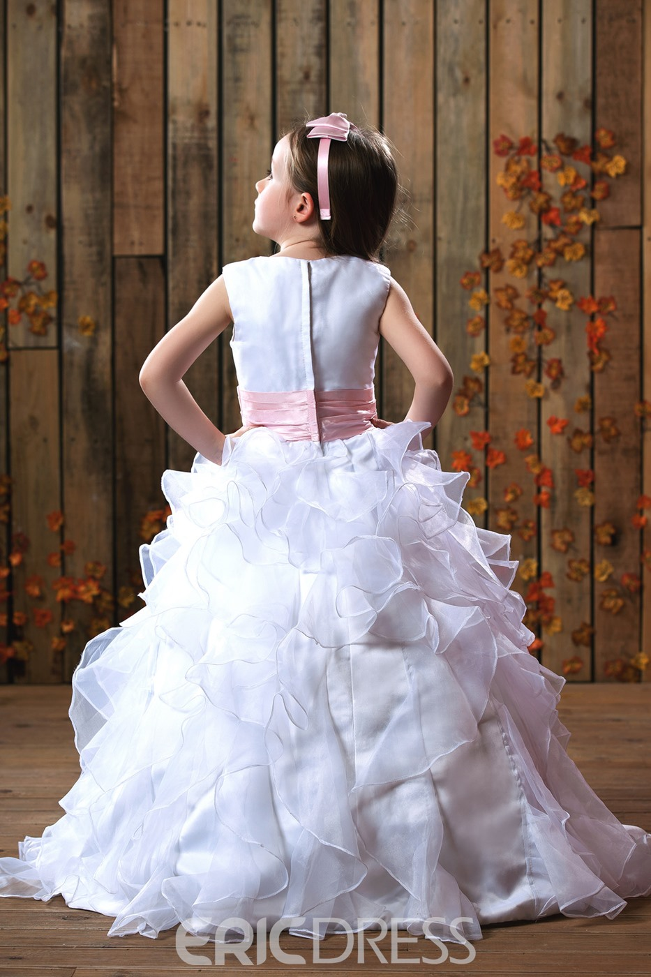 Gorgeous Ball Gown Floor-length Ruched Flower Girl Dress
