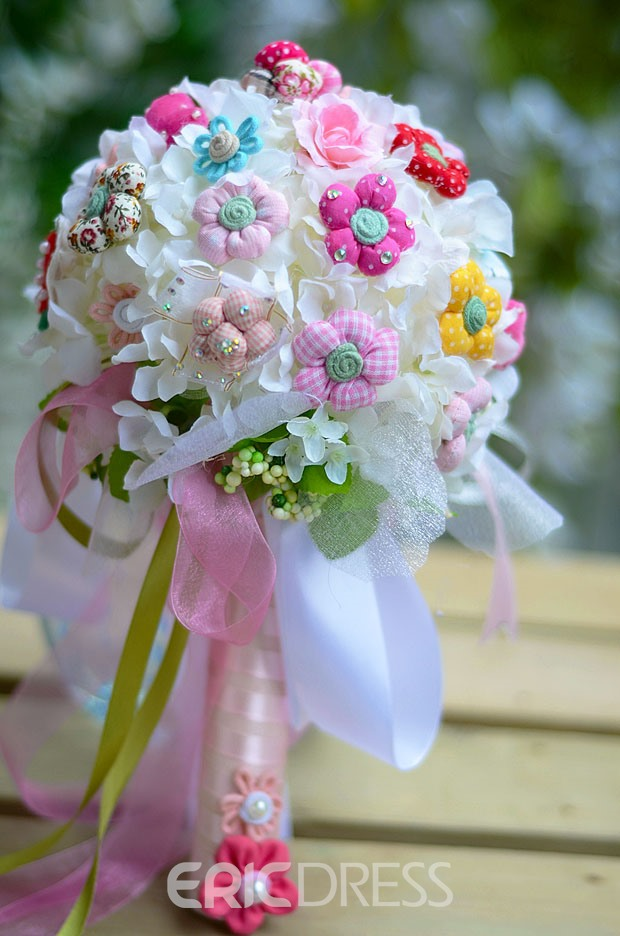 Sphere Shaped Cute Flower Wedding Bridal Bouquet 10505498 ...