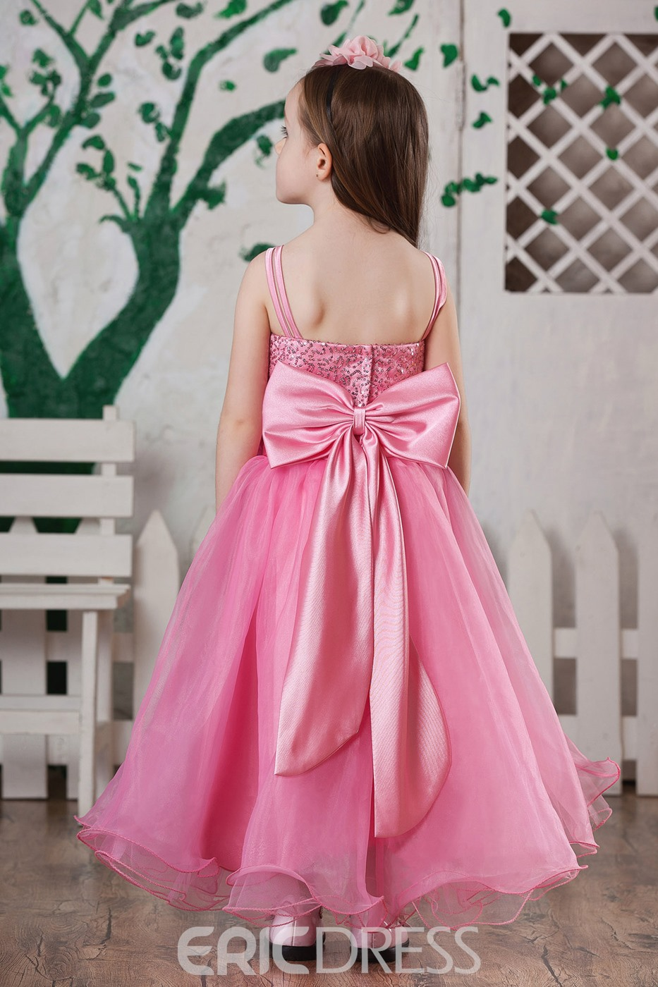 Amazing Straps Ball Gown Knee-length Flower Girl Dress