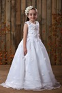 Comely Ball Gown Tea-Length Flower Girl Dress