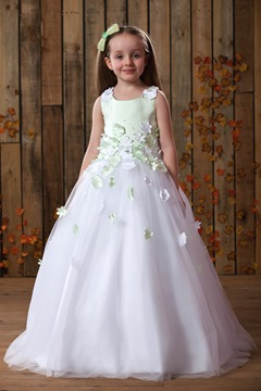 White flower girl dresses cheap dresses for flower girls beautiful scoop ball gown ankle length appliques flower girl dress mightylinksfo