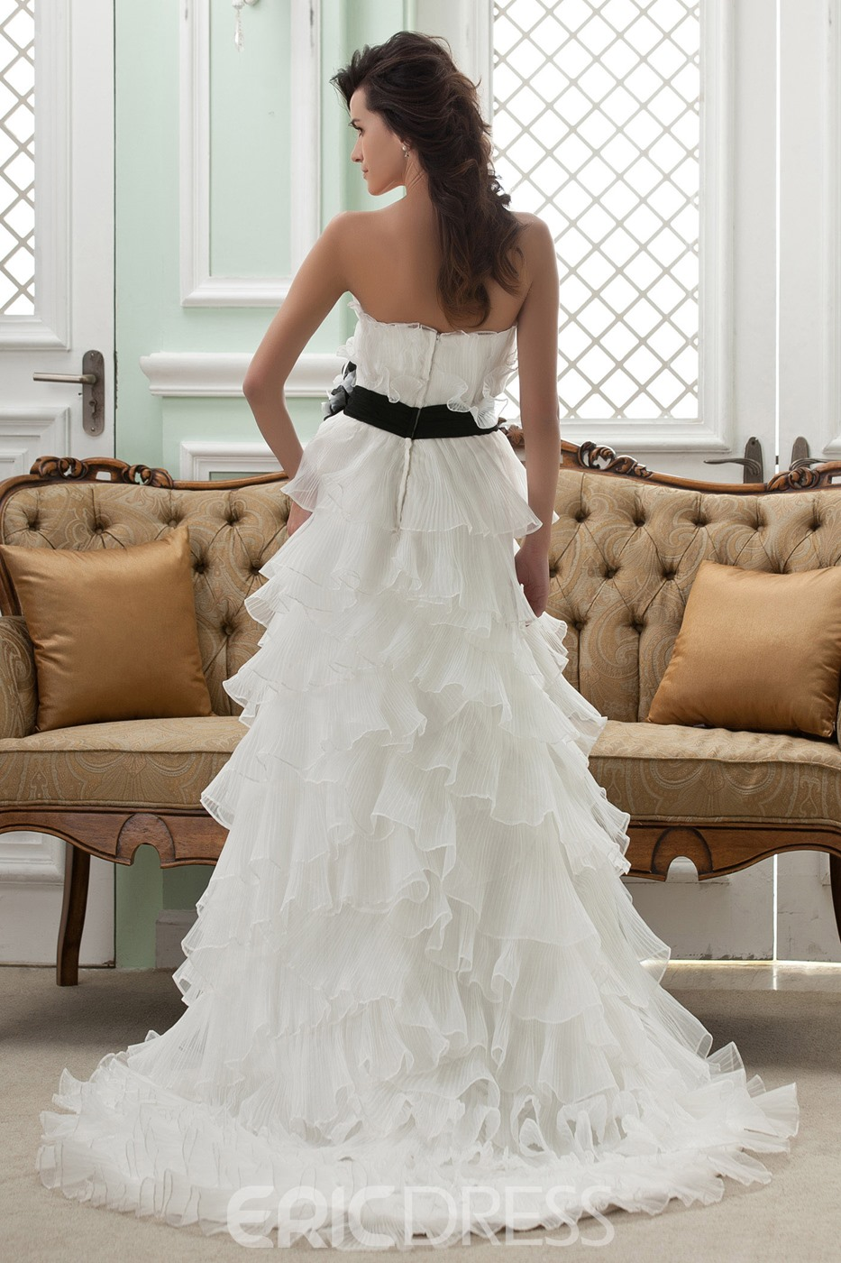 Amazing Empire Strapless Sleeveless Court Wedding Dress