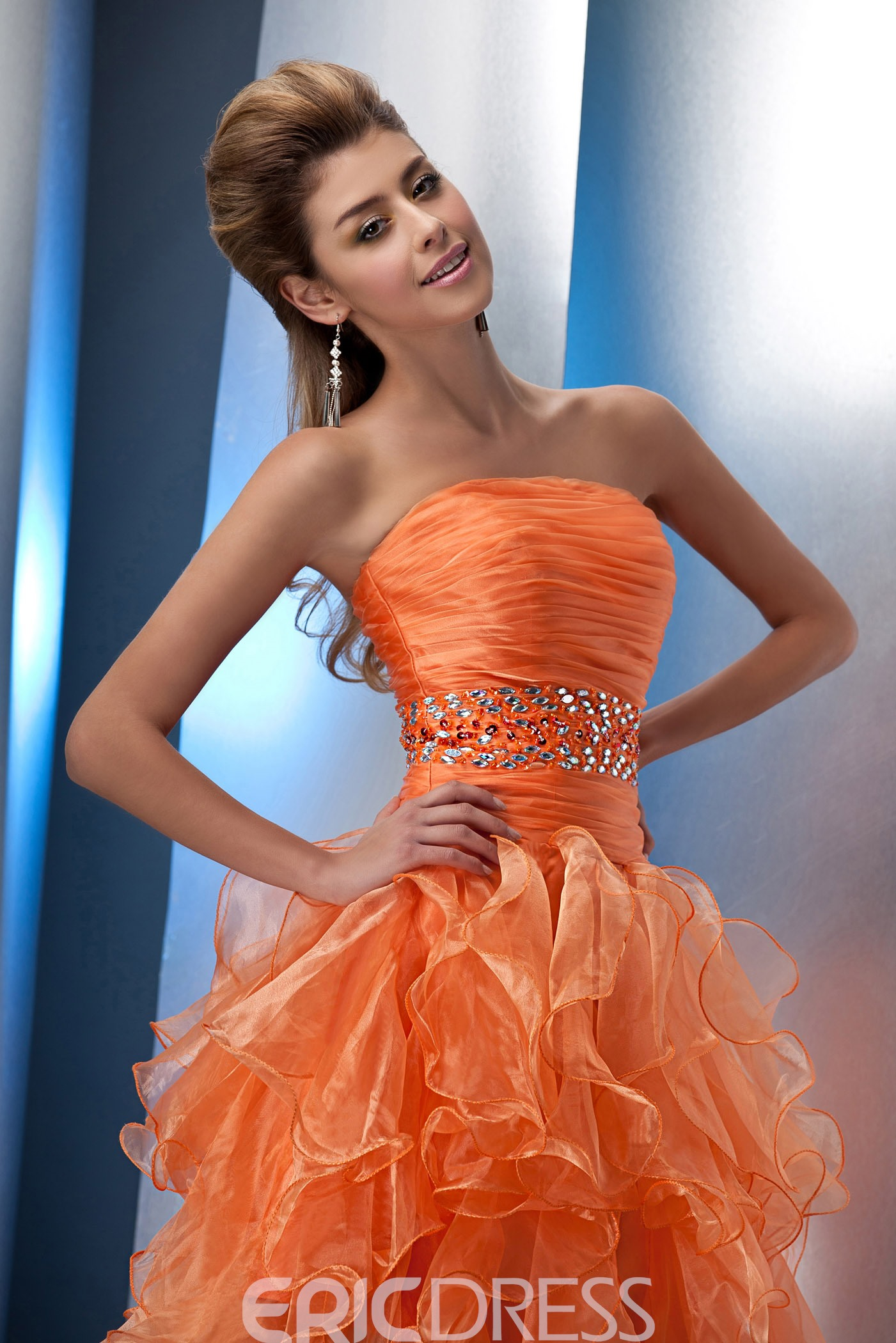 Lovely Strapless Beading Short/mini Length Homecoming Dress
