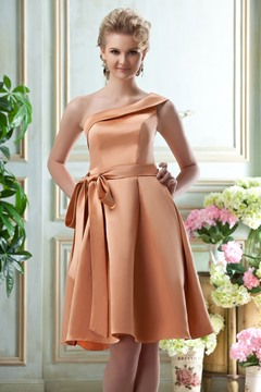 Elegant One-shoulder A-line Bridesmaid Dress