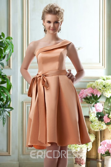 Ericdress One Shoulder A-line Bridesmaid Dress