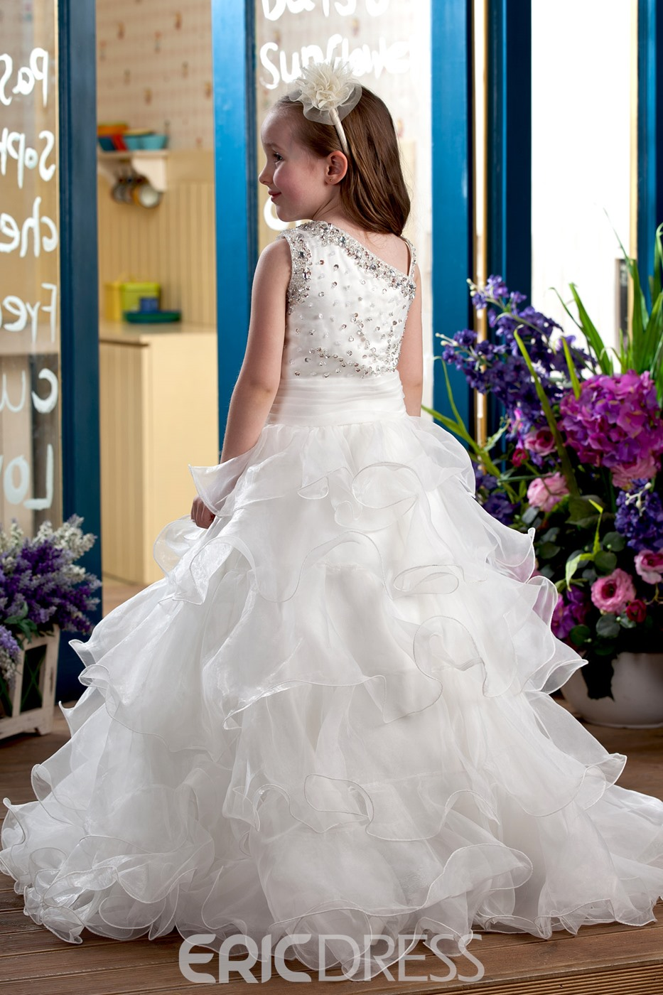 Elegant Ball Gown Floor-Length Flower Girl Dress