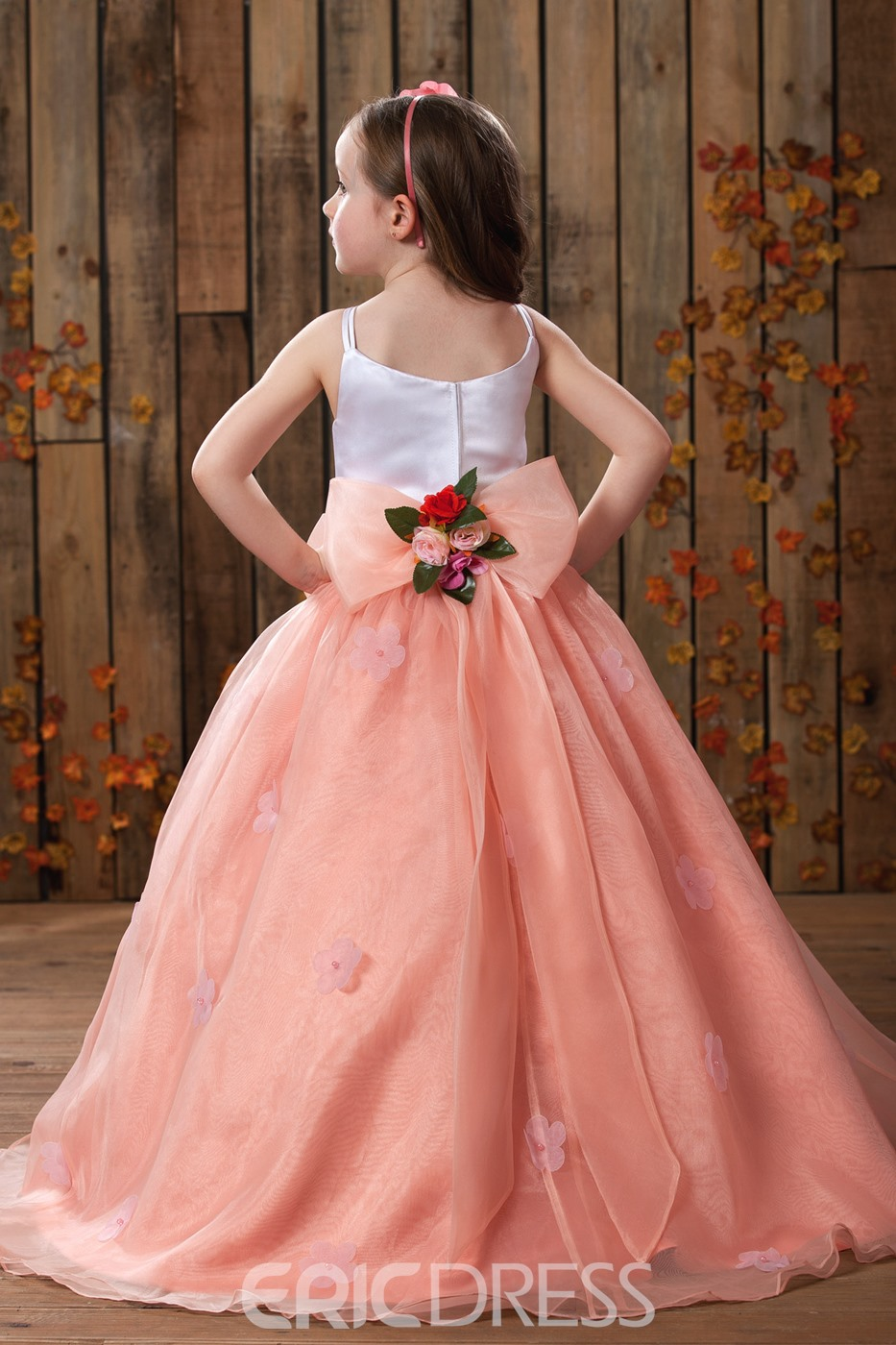 Fashion Ball Gown Floor Length Spaghetti Straps Flower Girl Dress