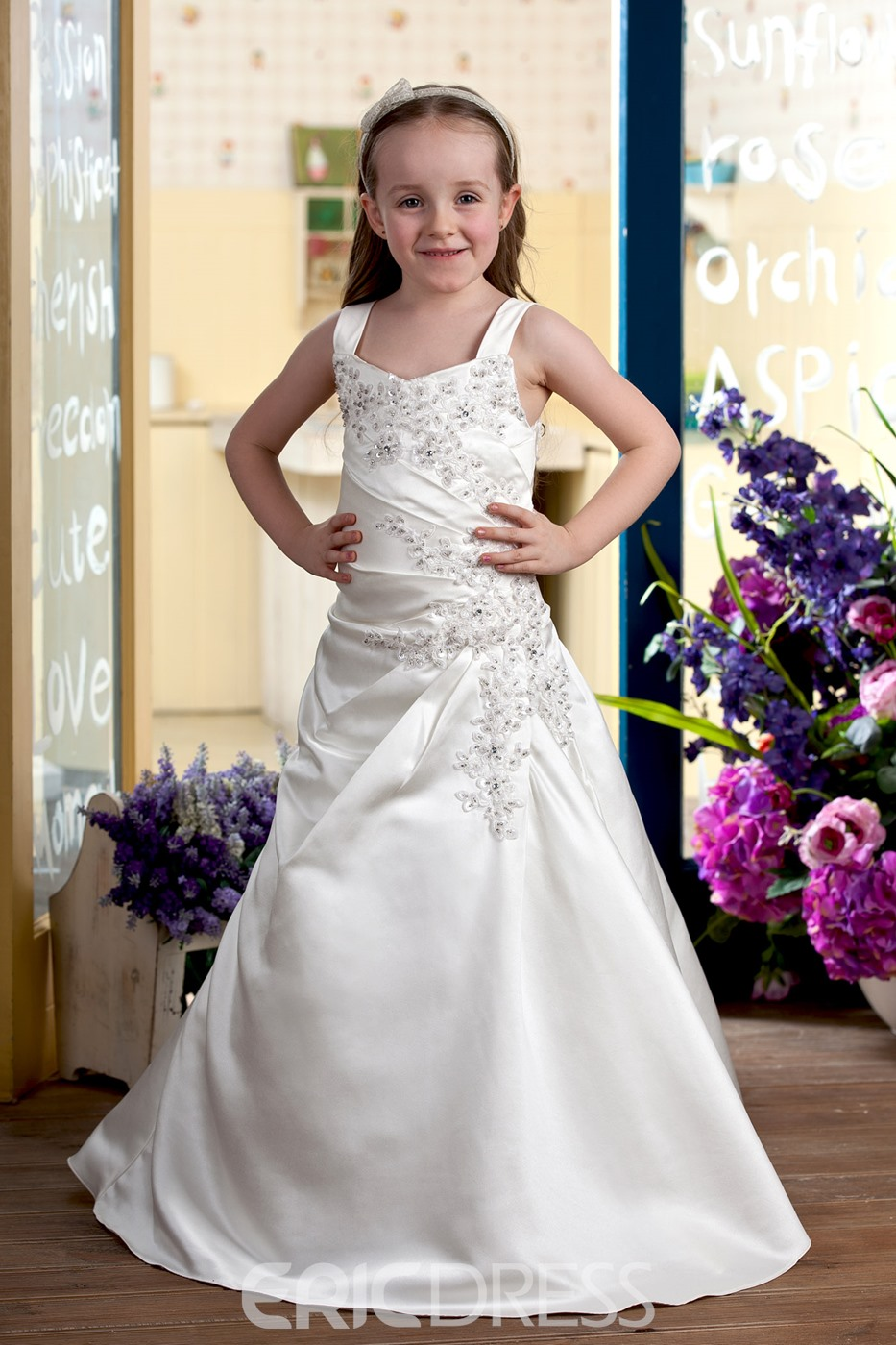 Attractive A-line Floor-length Flower Girl Dress