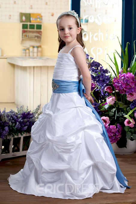 Gorgeous A-line Spaghetti Straps Flower Girl Dress