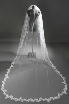 Ericdress Amazing Appliques Lace Trim Long Wedding Veil