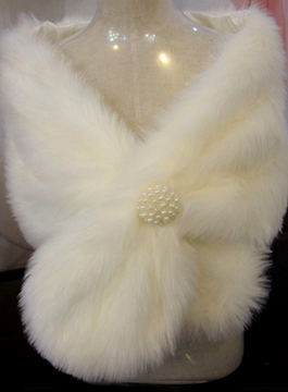 Ericdress Faux Fur Sleeveless Wedding Jacket